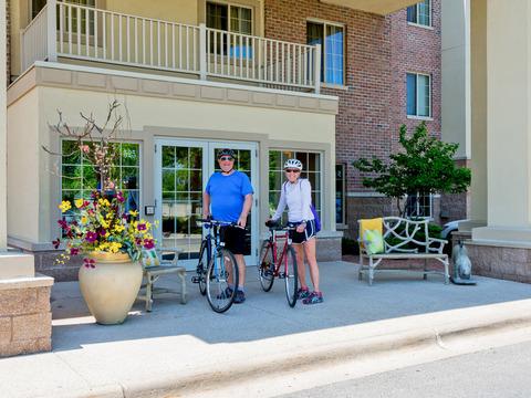Guests enjoying the biking and walking trails!