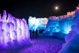 Ice Castles in Stillwater, MN